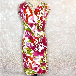 Tommy Bahama Floral Print Faux Wrap Dress